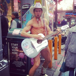 The Naked Cowboy in Times Square, New York *May 2012*