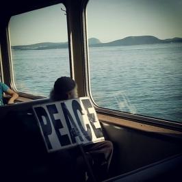 On a ferry to Orcas Island, Washington. *March 2012*
