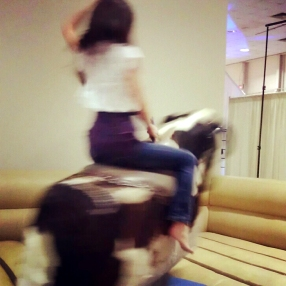 I live in Texas, so I just HAD to learn how to ride a mechanical bull! *January 2012*