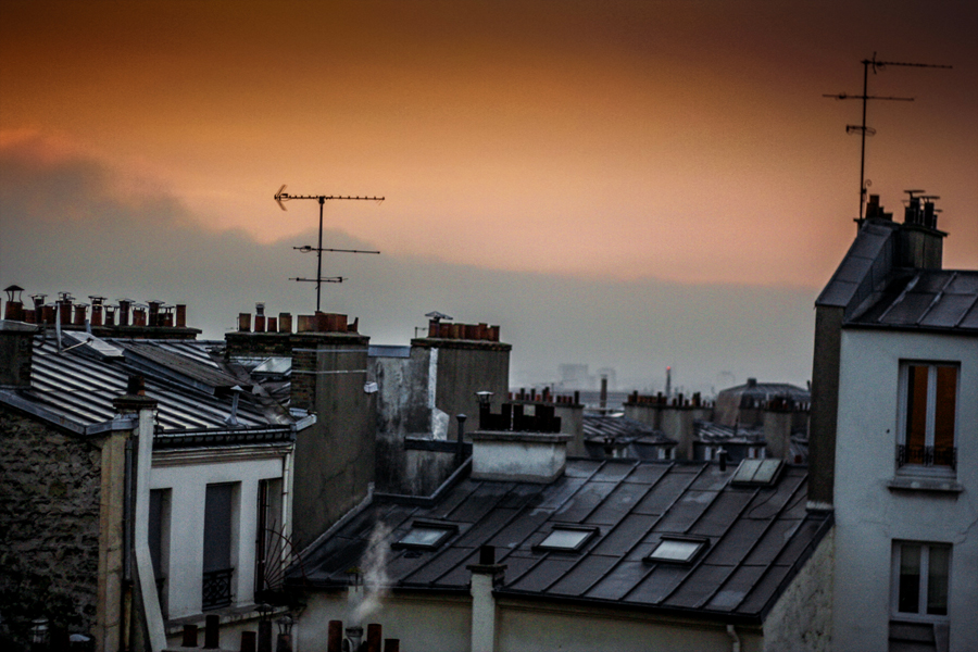 Paris Morning Rooftops